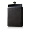 Knomo Leather Slim Case for iPad, Black (KN-SLM084)