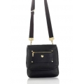 Knomo Oshika Leather Bag for iPad 3, iPad 2, iPad - Black (KN-25-402-BLK)