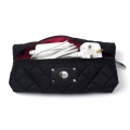 Knomo Quilted Cable Pouch, Black (KN-14-077-BLK)