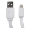 Le Touch Pasta5 Lightning Flat Cable to USB Cable White (PASTA5-W-1M) до 6 версии iOS!