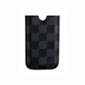 Louis Vuitton Square Sleeve Case Black/Gray for iPhone 4, 3G, 3GS
