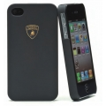 Lamborghini Luxtyle Back Cover Rubber Finishing for iPhone 4, 4S Black (LBC0003)