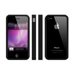 MacLove iSnow Cilla Case Black for iPhone 4 (ML53722)