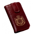 MacLove Leather Case Slim Wine Red for iPhone 4 (ML41202)