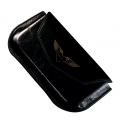MacLove Leather Case Diamond Classical Black for iPhone 4 (ML41104)