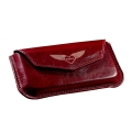 MacLove Leather Case Diamond Wine Red for iPhone 4 (ML41204)