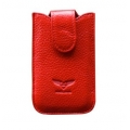 MacLove Genuine Leather Case Baron Red for iPhone 4 (ML25563)
