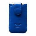 MacLove Genuine Leather Case Baron Blue for iPhone 4 (ML25566)