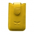 MacLove Genuine Leather Case Baron Yellow for iPhone 4 (ML25565)