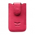 MacLove Genuine Leather Case Baron Pink for iPhone 4 (ML25564)