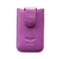 MacLove Genuine Leather Case Baron Purple for iPhone 4 (ML25567)