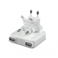 Macally Dual 2.1A Wall Charger - White (DUALUSB10)