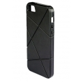 Macally Flexible Protective Case for iPhone 5, 5S - Black (FLEXFITB-P5)