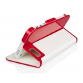 Macally Slim Folio Case with Stand for iPhone 5, 5S - Red&White (SCASER-P5)