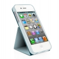 Macally Flip Cover Case with Rotatable Stand for iPhone 5, 5S - Blue (SSTANDBL-P5)