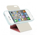 Macally Flip Cover Case with Rotatable Stand for iPhone 5, 5S - Pink (SSTANDRS-P5)