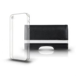 C.E.O. Premiere Plus Black with Clear Shell for iPhone 4