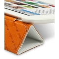 Melkco Leather Case Slimme Cover White LC for iPad 2