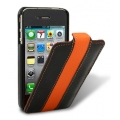 Melkco Leather Case Limited Edition Jacka Black/Orange LC for iPhone 4, 4S