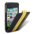 Melkco Leather Case Limited Edition Jacka Black/Yellow LC for iPhone 4, 4S