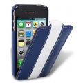 Melkco Leather Case Limited Edition Jacka Blue/White LC for iPhone 4, 4S