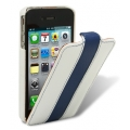 Melkco Leather Case Limited Edition Jacka White/Blue LC for iPhone 4, 4S