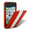 Melkco Leather Case Limited Edition Jacka Red/White LC for iPhone 4, 4S