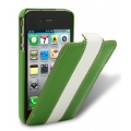 Melkco Leather Case Limited Edition Jacka Green/White LC for iPhone 4, 4S