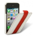 Melkco Leather Case Limited Edition Jacka White/Red LC for iPhone 4, 4S