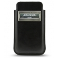 Melkco Leather Case iCaller Pouch Vintage Black for iPhone 4, 4S fit with Bumper
