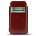 Melkco Leather Case iCaller Pouch Vintage Red fit with Bumper for iPhone 4