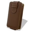 Melkco Leather Case Flip Down Brown Ver.2 for iPhone 4 (APIPO4LCFT2BN)