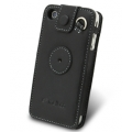 Melkco Leather Case Sleeve Black for iPhone 4 (APIPO4LCST1BK)