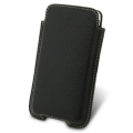 Melkco Leather Case Vertical Pouch Holder Black LC for iPhone 4, 4S (APIPO4LCVK1BKLC)