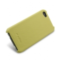 Melkco Leather Snap Cover Yellow LC for iPhone 4 (APIPO4LOLT1YWLC)