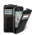 Melkco Leather Case Jacka ID Type for iPhone 4, Black LC (APIPO4LCJD1BKLC)