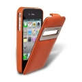 Melkco Leather Case Jacka ID Type for iPhone 4, Orange (APIP04LCJT10ELC)