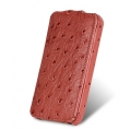 Melkco Leather Case Jacka Ostrich Fire Brick for iPhone 4, 4S (APIP4SLCJT1FBOH)