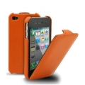 Melkco Leather Case Jacka Orange LC for iPhone 4, 4S (APIPO4LCJT1OELC)