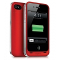 Mophie Juice Pack Air Case Red 1500 mAh for iPhone 4, 4S (MOP-1148JPAIP4PRED)