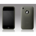 More Swirling Series Silicone Case Cloudy Black for iPhone 3G/3GS (AP05-001CBL)
