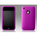 More Swirling Series Silicone Case Purple for iPhone 3G/3GS (AP05-001PUR)