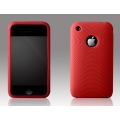 More Swirling Series Silicone Case Red for iPhone 3G/3GS (AP05-001RED)