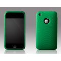 More Swirling Series Silicone Case Green for iPhone 3G/3GS (AP05-001GRN)