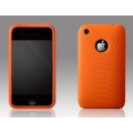 More Swirling Series Silicone Case Orange for iPhone 3G/3GS (AP05-001ORG)