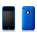 More Swirling Series Silicone Case Blue for iPhone 3G, 3GS (AP05-001BLU)