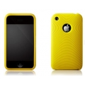 More Swirling Series Silicone Case Yellow for iPhone 3G, 3GS (AP05-001YEL)