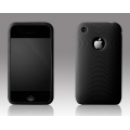 More Swirling Series Silicone Case Black for iPhone 3G/3GS (AP05-001BLK)