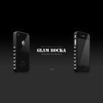 Glam Rocka Rex Black for iPhone 4 (AP13-023BLK)