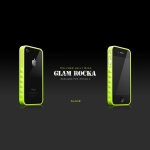 Glam Rocka Slade Neon Green for iPhone 4 (AP13-023NGN)